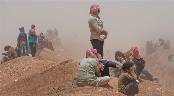 لاجئون سوريون في مخيم الركبان (أرشيف)