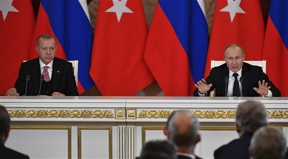 الرئيسان الروسي فلاديمير بوتين والتركي رجب طيب أردوغان (أ ف ب)