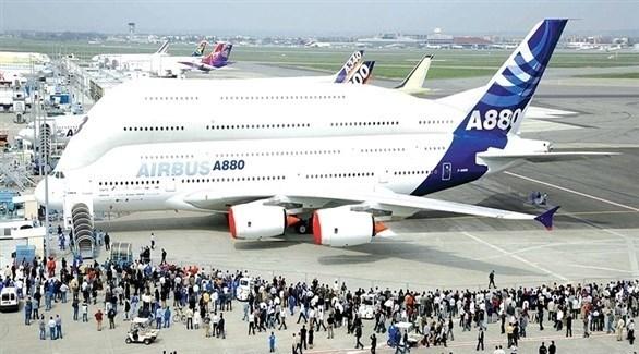 طائرات أيرباص خلال معرض دولي للطائرات (أرشيف)