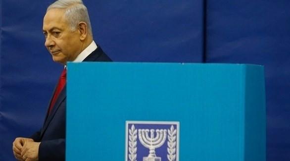 نتانياهو يدلي بصوته في الانتخابات الإسرائيلية (إ ب أ)