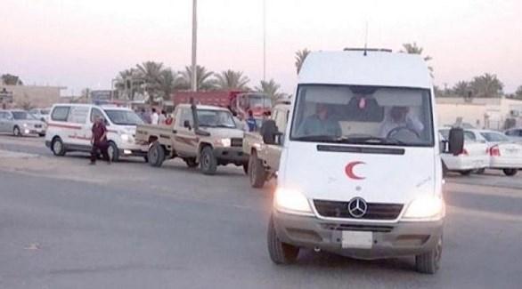 سيارة إسعاف ليبية في طرابلس  (أرشيف)
