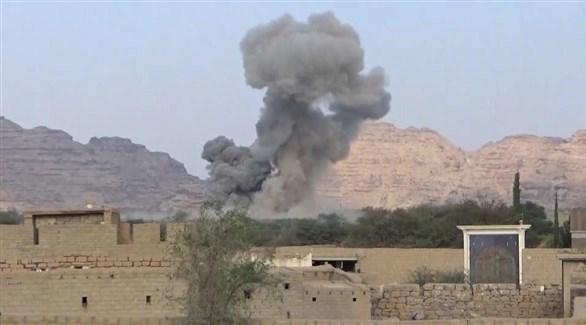 تصاعد الدخان من موقع مستهدف في اليمن (أرشيف)