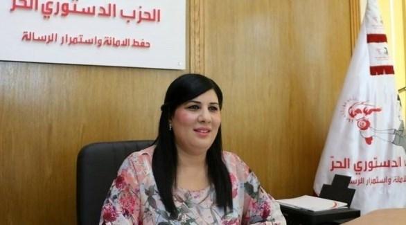 الأمينة العامّة للحزب الدستوري الجزائري عبير موسي (أرشيف)