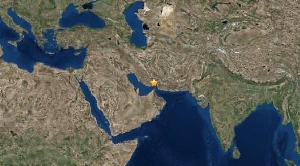 مكان وقوع الهزة الأرضية (المرصد الأمريكي للزلازل)