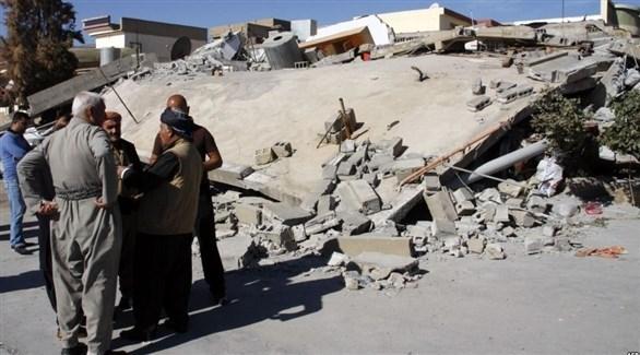 آثار دمار خلفه زلزال سابق في العراق (أرشيف)