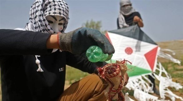 مطلقو  البالونات الحارقة في غزة (أرشيف)