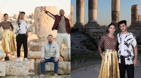 بالصور أبطال علاء الدين في الأردن تمهيدا لطرحه
