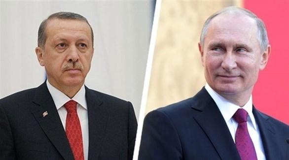 الرئيس التركي رجب طيب أردوغان ونظيره الروسي فلاديمير بوتين (أرشيف)