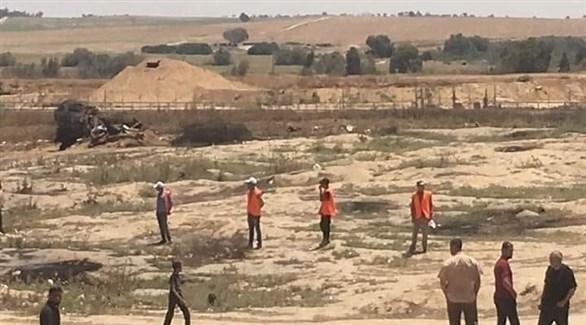 عناصر من حماس على حدود غزة لمنع الاحتكاك مع القوات الإسرائيلية (24)