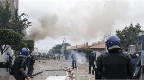 اشتباكات بين الشرطة الجزائرية ومحتجين (أرشيف)