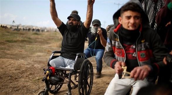 الشهيد الفلسطيني المقعد إبراهيم أبوثريا (أرشيف)