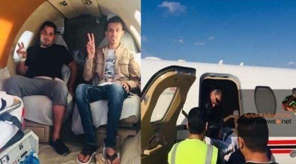 نقل جرحى من المجموعات المسلحة على متن طائرات مؤسسة النفط (بوابة أفريقيا)