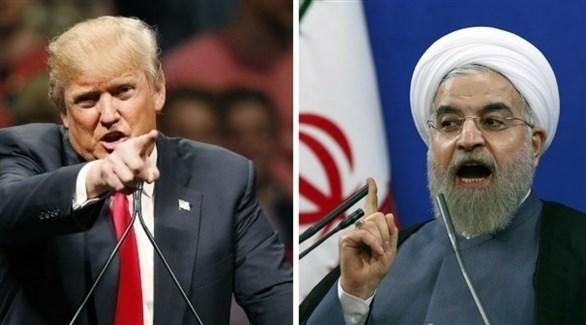 الرئيس الأمريكي دونالد ترامب ونظيره الإيراني حسن روحاني (أرشيف)