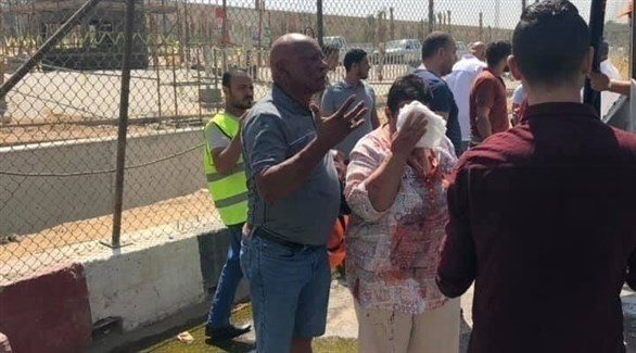 أحد المصابين في حادث انفجار الهرم قرب المتحف الكبير بالجيزة (تويتر)