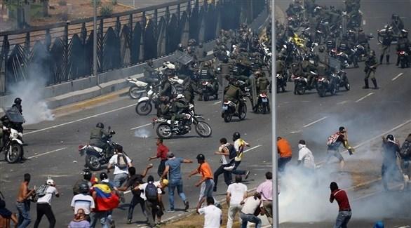 مواجهات ونزاع في فنزويلا (تويتر)