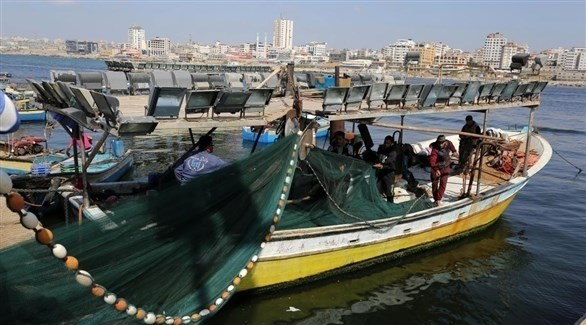 قارب صيد في بحر غزة (أرشيف)