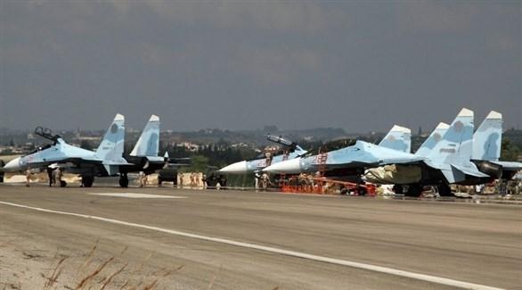 طائرات حربية روسية في قاعدة حميميم السورية باللاذقية (أرشيف)