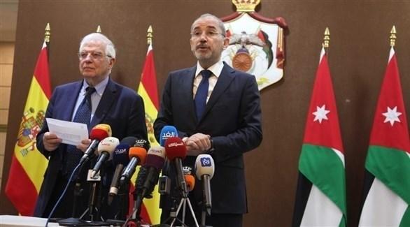 وزير الخارجية الأردني أيمن الصفدي ونظيره الإسباني جوسيب بوريل (24)