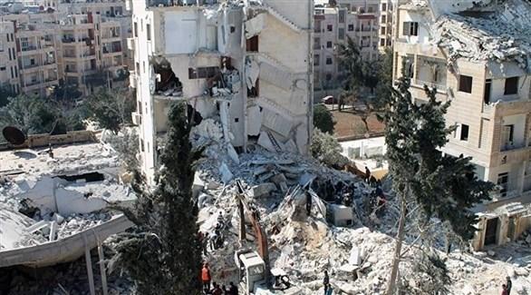 دمار هائل في مدينة إدلب جراء القصف المتواصل من قبل النظام السوري والروسي (أرشيف)