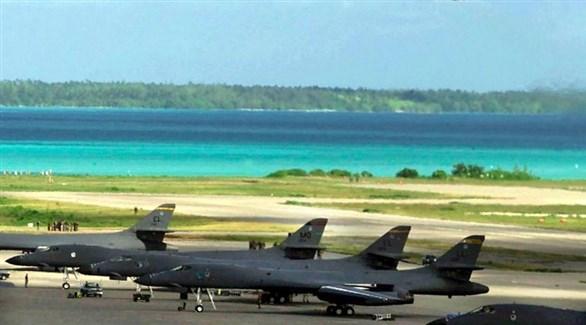 مقاتلات أمريكية في قاعدة دياغو غارسيا بجزر شاغوس (أرشيف)