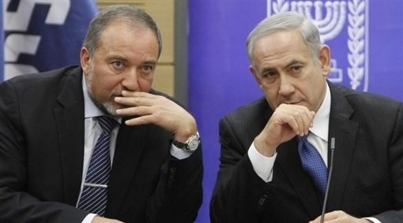 رئيس الوزراء الإسرائيلي بنيامين نتانياهو وأفيغدور ليبرمان (أرشيف)