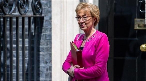 زعيمة المحافظين في مجلس العموم البريطاني المستقيلة أندريا ليدسوم (أرشيف)