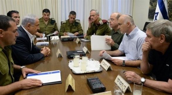 رئيس الحكومة الإسرائيلية بنيامين نتاياهو خلال اجتماع أمني في تل أبيب (أرشيف)