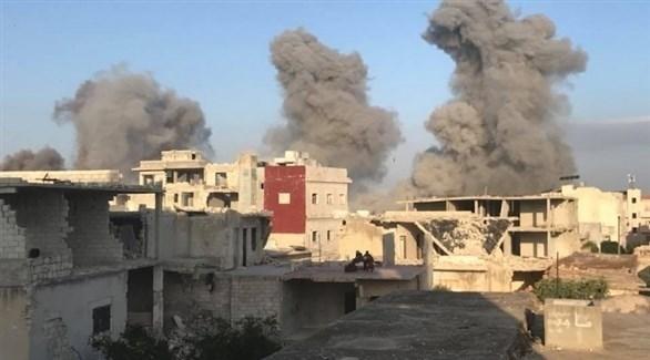 انفجارات إثر غارات للطيران السوري على إدلب (أرشيف)