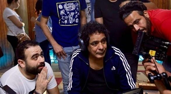 محمد منير أثناء تصوير أغنية