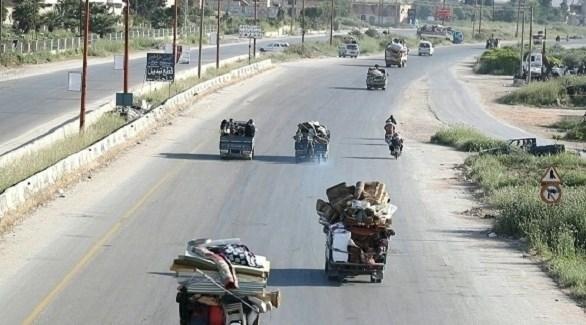 مدنيون فارون من إدلب (أرشيف)