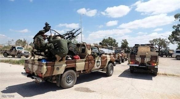 آليات وجنود من الجبش الليبي (أرشيف)