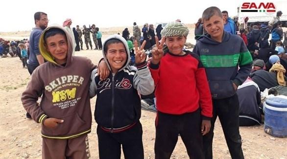 مجموعة من النازحين السوريين (سانا)