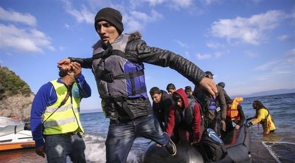 وصول مجموعة من المهاجرين إلى إحدى الدول الأوروبية (أرشيف)