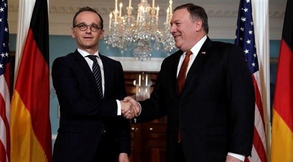 وزير الخارجية الأمريكي مايك بومبيو ونظيرة الألماني هايكو ماس (أرشيف)