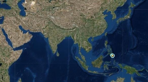 مكان وقوع الزلزال في الفلبين (المرصد الأمريكي للزلازل)