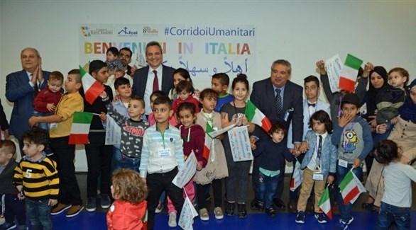 برنامج الممرات الإنسانية الإيطالي يستقبل دفعة مهاجرين (أرشيف)