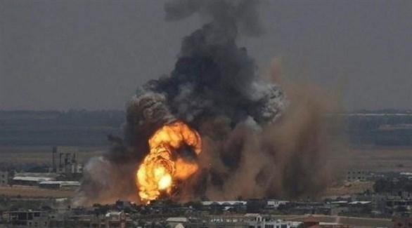 انفجار في غزة بعد غارة إسرائيلية (أرشيف)