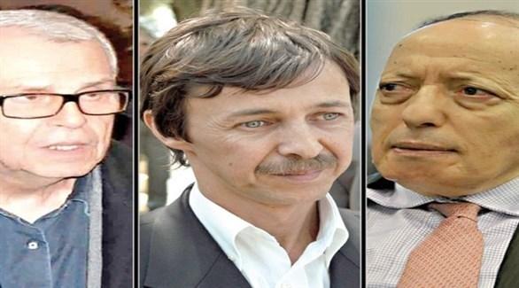 المتهمون الثلاثة عثمان طرطاق والسعيد بوتفليقة ومحمد مدين (أرشيف)