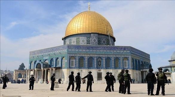 قوات إسرائيلية في باحات الحرم القدسي (أرشيف)