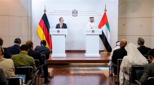 لقاء عبدالله بن زايد ووزير الخارجية الألماني (أرشيف)
