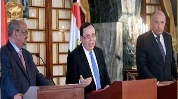 وزراء خارجية مصر وتونس والجزائر (أرشيف)