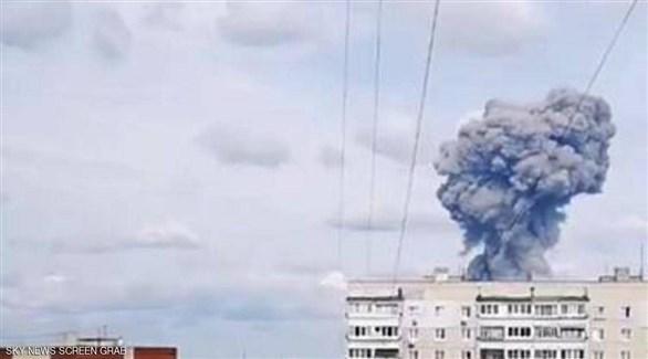 جانب من الانفجار (وكالة نوفوستي)