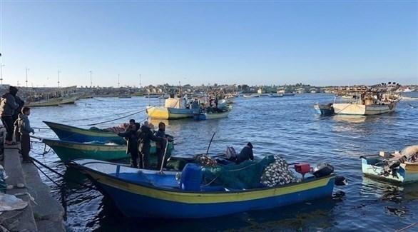 قوارب صيادين من غزة (أرشيف)