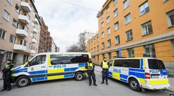 عناصر من الشرطة السويدية في عملية أمنية (أرشيف)
