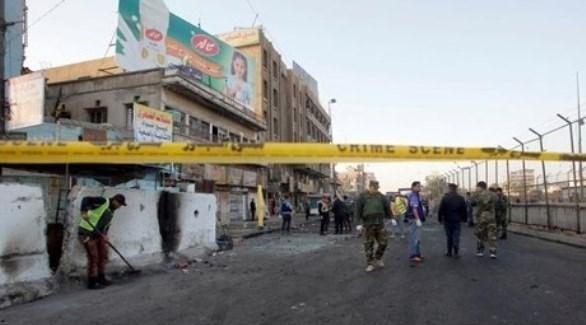 طوق أمني في موقع احد الانفجارات (الإعلام الأمني)