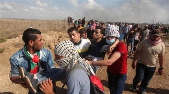 إصابات برصاص الاحتلال الاسرائيلي في فعاليات مسيرة العودة بغزة (أرشيف)