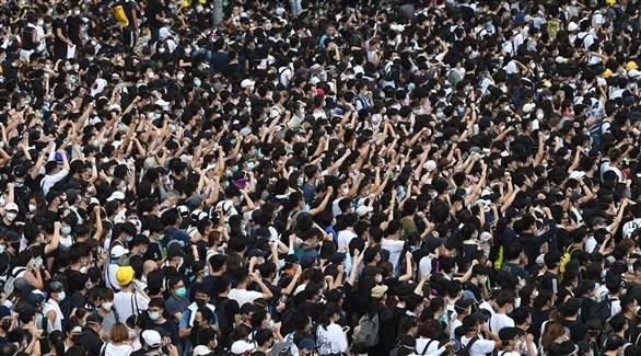 جانب من احتجاجات هونغ كونغ (أرشيف)