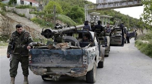 فصائل من المعارضة السورية المسلحة في حماة (أرشيف)