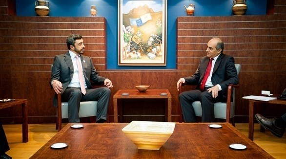 عبدالله بن زايد بضيافة رئيس البرلمان القبرصي (وام)