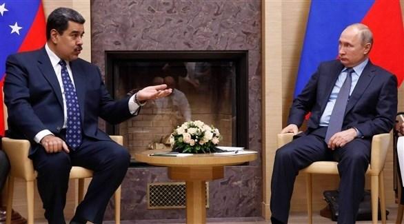 الرئيسان الروسي فلاديمير بوتين والفنزويلي نيكولاس مادورو (أرشيف)